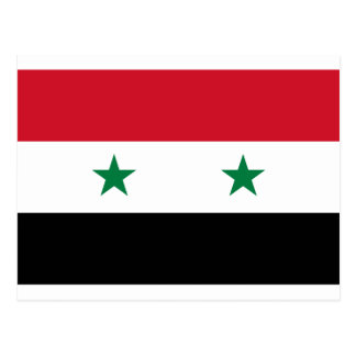 Syrian Arab Republic Flag - Flag of Syria Postcard