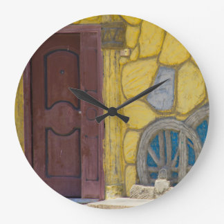 Syrian artists home in a Refugee Camp in Kurdistan Large Clock