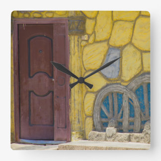 Syrian artists home in a Refugee Camp in Kurdistan Square Wall Clock