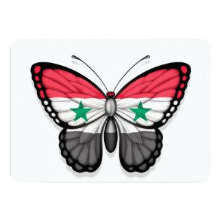 "Syrian Butterfly Flag 5"" X 7"" Invitation Card"