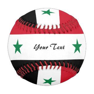 Syrian flag baseball