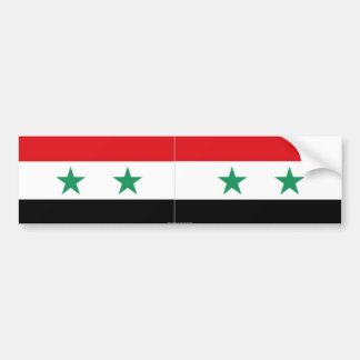 Syrian flag bumper sticker