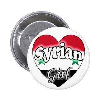 Syrian Girl Pinback Button
