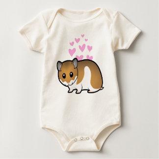 Syrian Hamster Love Baby Bodysuit