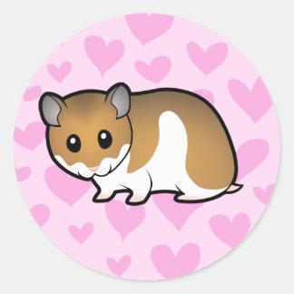 Syrian Hamster Love Classic Round Sticker