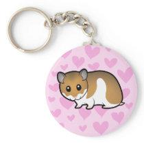 Syrian Hamster Love Keychain