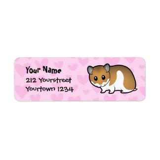 Syrian Hamster Love Label