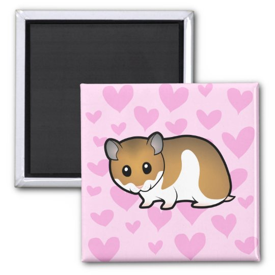 Syrian Hamster Love Magnet