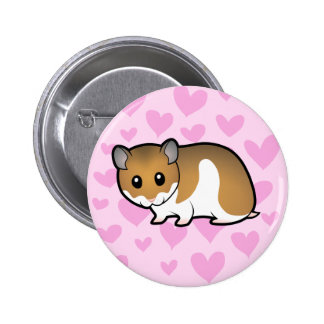 Syrian Hamster Love Pinback Button