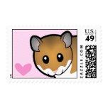 Syrian Hamster Love Postage Stamps