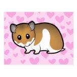 Syrian Hamster Love Postcard