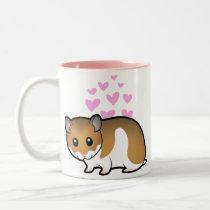 Syrian Hamster Love Two-Tone Coffee Mug