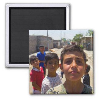 Syrian refugee boys in Erbil, Iraqi-Kurdistan Magnet