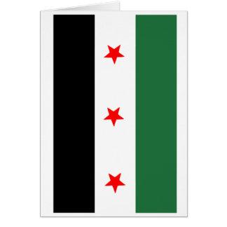 Syrian Revolutionary Flag Card