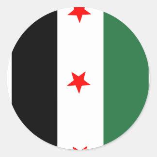 Syrian Revolutionary Flag Classic Round Sticker