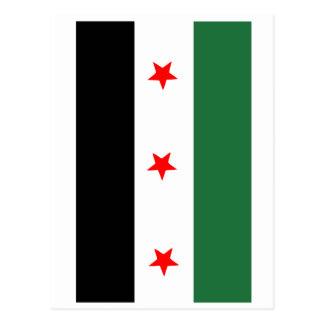 Syrian Revolutionary Flag Postcard