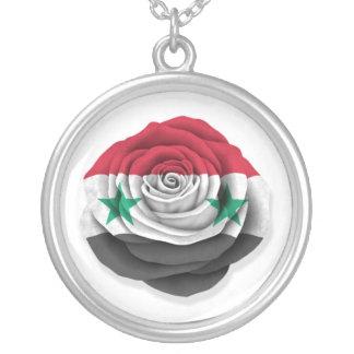 Syrian Rose Flag on White Pendants