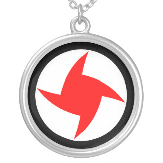 Syrian Social Nationalist Party, Syria flag Round Pendant Necklace