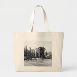 Syrian Water Wheel, early 1900s Large Tote Bag