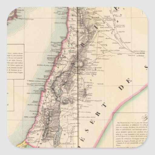 Syriea y Palestina Asia 63 Calcomania Cuadrada Personalizada