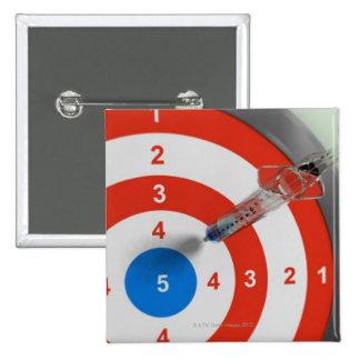 Syringe Dart Pinback Button