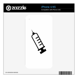 syringe decal for iPhone 4