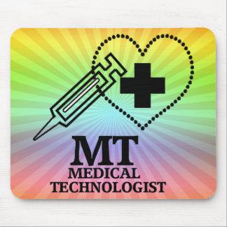 SYRINGE HEART LOGO FOR MT MEDICAL TECHNOLOGIST MOUSE PAD