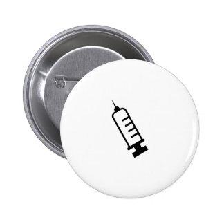syringe pinback button