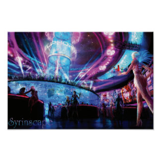 Syrinscape Cyberpunk Disco Poster