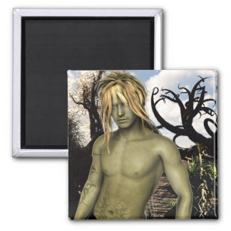 Syr'Lin Desert Warrior Fantasy Male Pinup Magnet