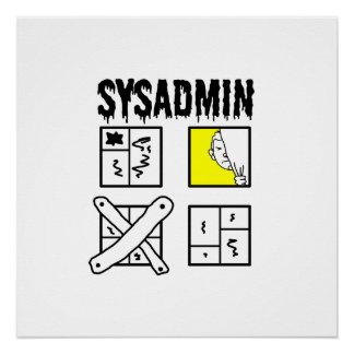 Sysadmin - administrador de sistema perfect poster
