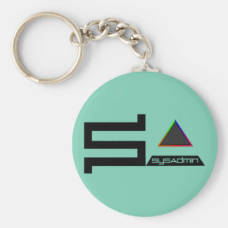 SysAdmin digital symbol color logo Basic Round Button Keychain