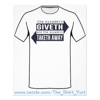 Sysadmin Giveth y Taketh lejos Tarjetones