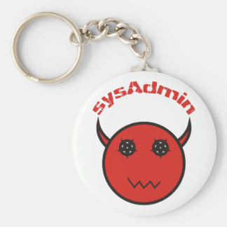 sysAdmin system administrator system administrator Basic Round Button Keychain