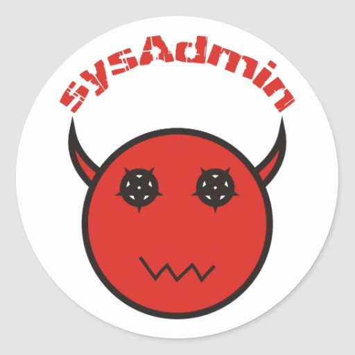 sysAdmin Systemadministrator system administrator Runde Aufkleber