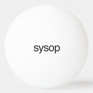 sysop.ai pelota de tenis de mesa