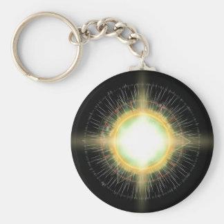 System 2 basic round button keychain