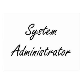 System Administrator Artistic Job Design Postcard