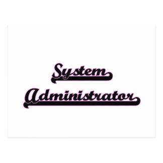 System Administrator Classic Job Design Postcard