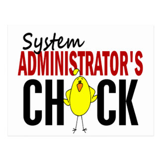 System Administrator's Chick Postcard