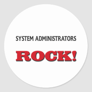 System Administrators Rock Stickers