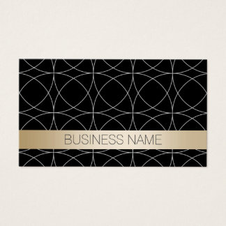 System Architect Modern Black & Gold Business Card