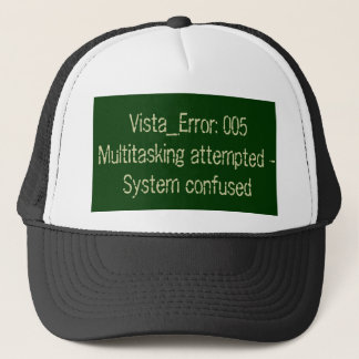 System confused error code trucker hat
