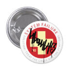 System Cross - Red 1 Inch Round Button