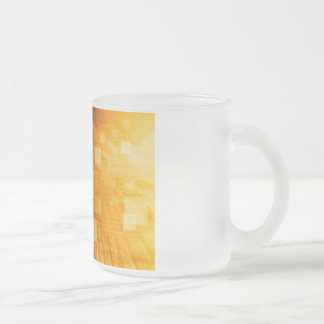 System Development Platform and Reporting Tool Frosted Glass Coffee Mug