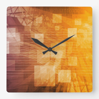 System Development Platform and Reporting Tool Square Wall Clock