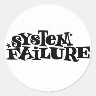 System Failure Classic Round Sticker