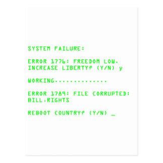 System Failure: ERROR 1776 Postcard