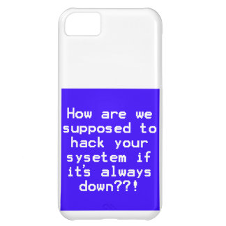 System hack joke cover for iPhone 5C