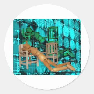 SYSTEM OVERLOAD.jpg Classic Round Sticker
